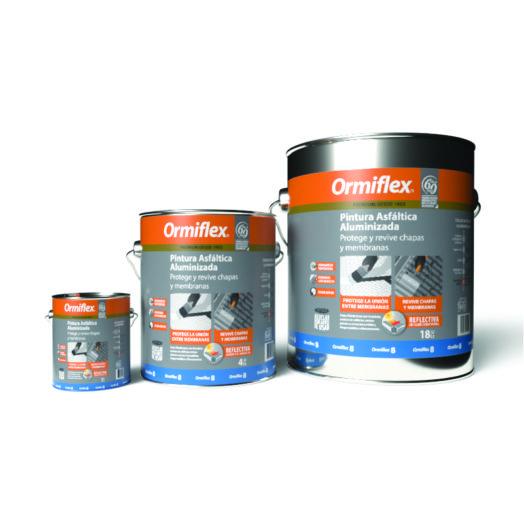 pintura asfaltica aluminizada ormiflex 8 de la linea premium de ormiflex